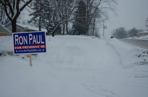 Ron Paul for President 2008 sign