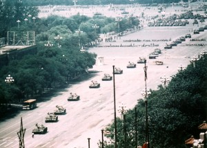 Tiananmen Tank Man, the wide shot