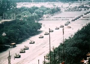 Tiananmen Tank Man, the wide shot